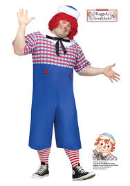 Rag Doll Halloween Costume Raggedy Andy Size Costume
