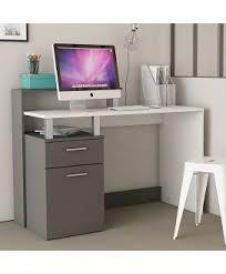 bureau blanc et gris bureaux et chaises de bureau dya shopping fr