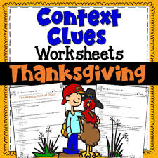 context clues worksheets thanksgiving test prep by deb hanson