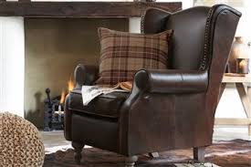 Next Armchairs Sherlock Leather Armchair With A Stag Head Cushion Nojatuolit