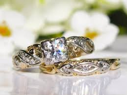 Art Deco Wedding Rings by Antique Engagement Ring Transitional Cut Diamond Antique Bridal