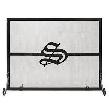 Single Fireplace Screen by Single Panel Personalized Fireplace Screen Old English