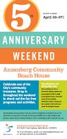 annenberg community beach house 5th anniversary weekend santa