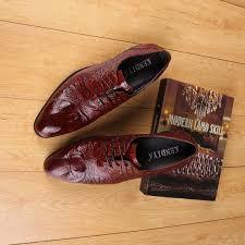 wedding shoes office crocodile grain black wine mens dress shoes wedding shoes