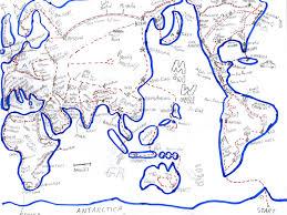 Blank Hemisphere Map by Mini World U2013 Fascination Hub