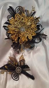Gold Boutonniere Black White U0026 Gold Boutonniere Corsage U0026 Garter Wedding