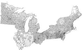 Blank Northeast Map by Us Township Bam Alternate History Discussion