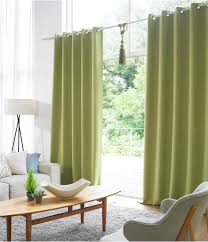 Green And Beige Curtains Blockout 99 9 Green Color Eyelet Curtains 1pair Ozcurtain