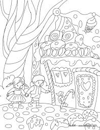 detailed gingerbread house coloring pages hansel and gretel tale