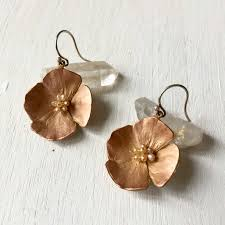 poppy earrings california poppy earrings earth s treasures