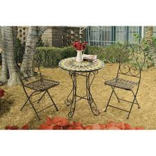 martini table with bird alpine birds on branches 3 piece bistro set table and 2 chairs
