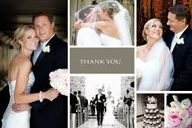chic thank you photo wedding cards personal message