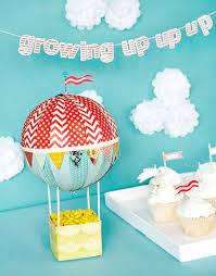 hot air balloon decorations dyi hot air balloon centerpiece basic grey