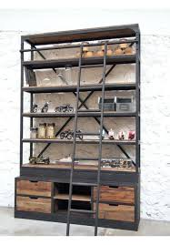Reclaimed Wood Room Divider Bookcase Reclaimed Wood And Metal Distressed Contemporary