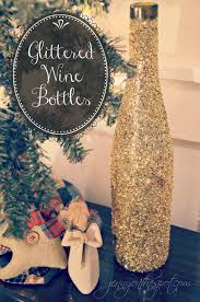 tutorial for diy glittered wine bottles jenny on the spot