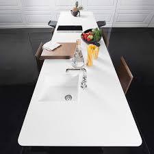 plan de travail cuisine corian îlot central avec table et plan de travail corian le top meuble