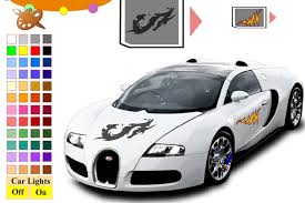 bugatti veyron car coloring game boys games games loon