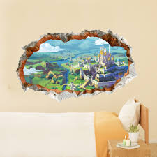 wall decals scenery color the walls of your house wall decals scenery room cartoon castle scenery tale wall decal removable paper stickers