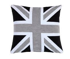 Blue Union Jack Cushion Ehc Chenille Jacquard Union Jack Cushion Cover Black Grey Amazon