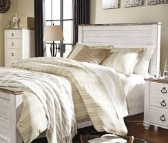Ashley Furniture Upholstered Bed Willowton Whitewash Queen Panel Bed From Ashley Coleman Furniture