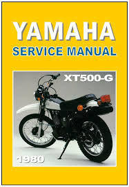 yamaha workshop manual xt500 1980 xt500g xt500 g maintenance