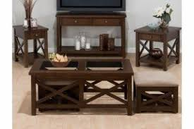 X Side Table Coffee Table With Nesting Ottomans Foter