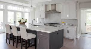 Gray Kitchens Pictures White Kitchen Grey Island Home Pinterest Gray Island