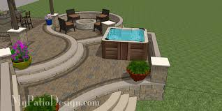 Terraced Patio Designs Curvy Terraced Patio Design With Tub Patios New Pinterest