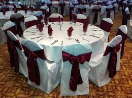 chair cover sashes wine burgundy satin chair sash on white chair cover wedding