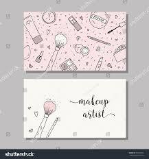 makeup artist business card vector template stock vector 397603006