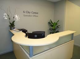 Reception Office Desks by Six City Center Executive Offices Portland Maine