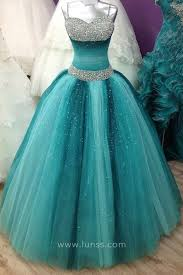 teal tulle beaded sweetheart ombre blue tulle stunning quinceanera