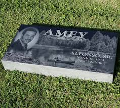 Flat Headstones With Vase 12x24x3 Granite Memorial Headstone Flat Grass Marker