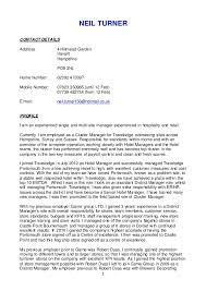 Investment Banking Sample Resume by Neil Turner Cv 26 1 16