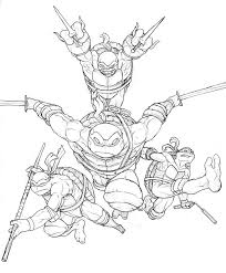 tmnt coloring free download