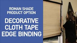 decorative cloth tape edge binding for woven wood shades from
