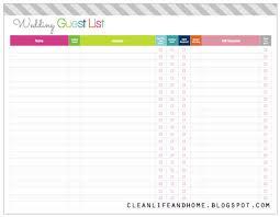 downloadable wedding planner guest list wedding europe tripsleep co