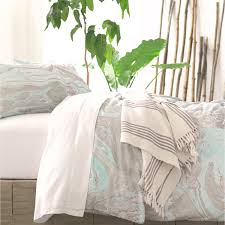bedroom charming pine cone hill bedding in gray and blue for bed