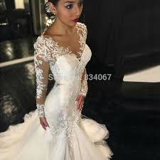 most beautiful wedding dresses most beautiful sleeves mermaid wedding dress 2017