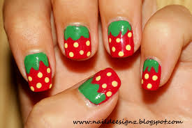 strawberry nail art design strawberry nail art x nail art designs