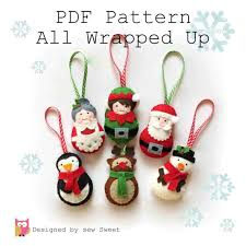 ornament patterns sewing cheminee website