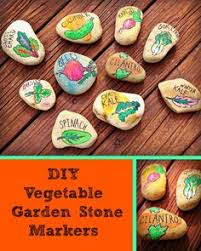 Vegetable Garden Labels by Hand Painted Vegetable Garden Markers By Arockforallseasons On