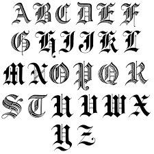letters in old english old english letters and lettering for