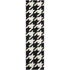 Black White Runner Rug Living Room Contemporary Geometric Polypropylene Runner Rugs Ebay