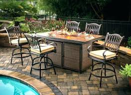Patio Bar Height Table And Chairs Bar Height Patio Set With Swivel Chairs Poly Patio Pub Table Set