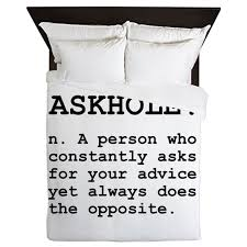 Duvet Dictionary Askhole Definition Queen Duvet By Funnyshirtsgiftsandmore