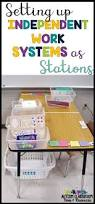 Practicing Independence Skills Get Ready For K Through by Setting Up Independent Work System Stations Workbasket Wednesday