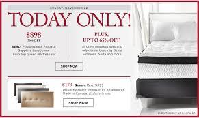 black friday mattress sale hudson u0027s bay canada black friday pre sale save 70 on sealy euro