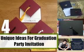 unique graduation party ideas unique ideas for graduation party invitation how to make