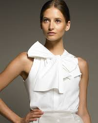 blouses with bows at neck lyst jason wu bow neck blouse in white